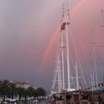 Rainbow over Trogir