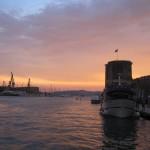 Trogir at sunset